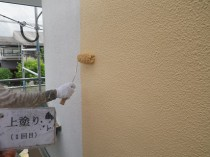 外壁 上塗り1回目 (1)