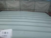 屋根 上塗り1回目 (1)