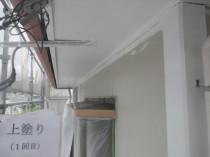 軒天井 上塗り1回目 (1)