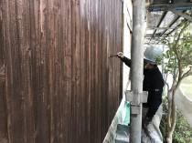 木 上塗り2回目 (1)