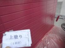 外壁1階 上塗り1回目 (2)