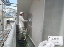 外壁 上塗り1回目 (2)