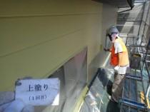 外壁2階 上塗り1回目 (3)