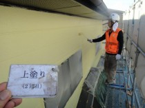 外壁2階 上塗り2回目 (2)