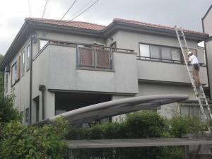 福岡市早良区室見M様【外壁素材:モルタル  屋根素材:陶器瓦】:施工前