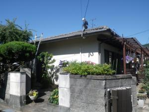 福岡市東区高美台T様邸【外壁素材:モルタル 屋根素材:セメント瓦】:施工前