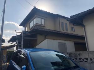 福岡市西区下山門N様邸【外壁素材:モルタル、木】:施工前