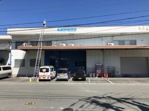 福岡市東区社領第3倉庫【外壁:ALC 屋根:折半屋根 付帯塗装】:施工前