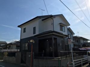 福岡市西区泉M様邸【外壁:窯業系サイディング板 屋根:スレート瓦 付帯塗装】:施工後