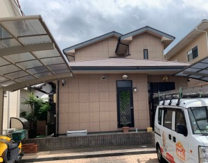 糸島市板持I様邸【外壁:窯業系サイディング板 屋根:スレート瓦 付帯塗装】:施工前