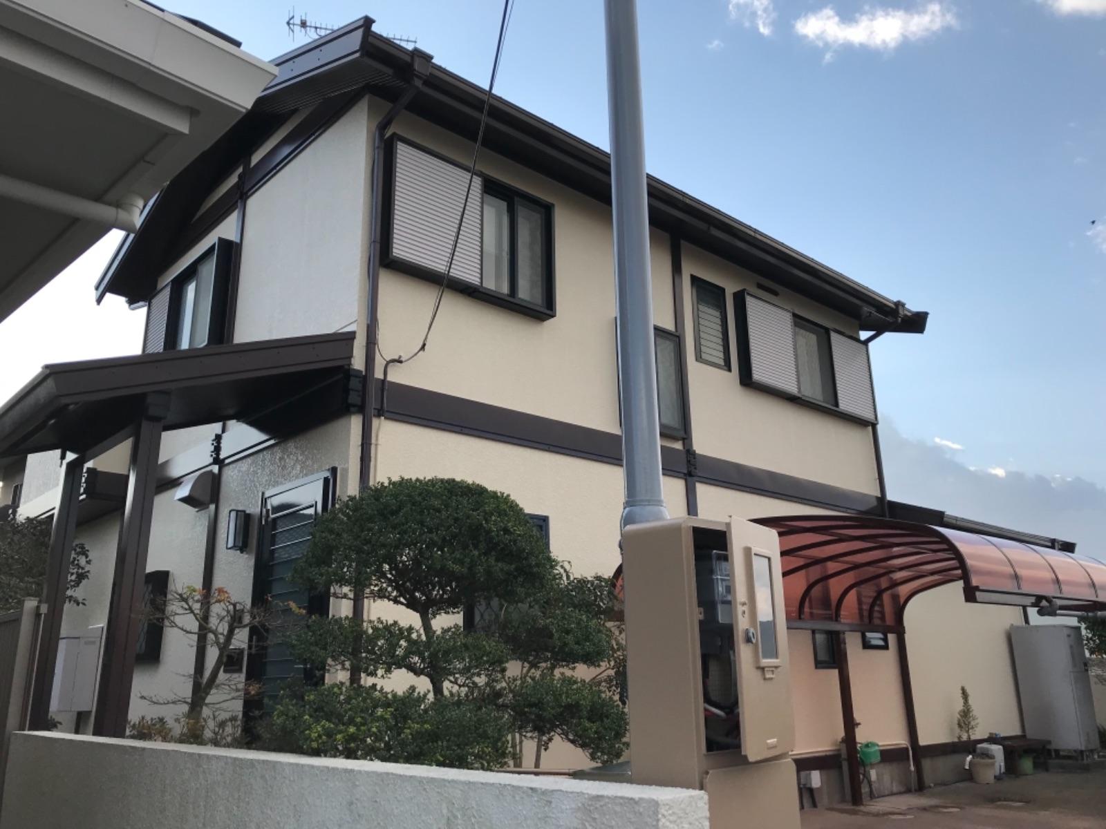 那珂川市王塚台Y様邸【外壁:モルタル 屋根:スレート瓦 付帯塗装】