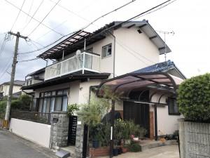 福岡市南区和田K様邸【外壁:モルタル  付帯塗装】:施工後