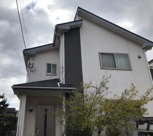 福岡市西区姪の浜S様邸【外壁:窯業系サイディング板 屋根:スレート瓦 付帯塗装】:施工前
