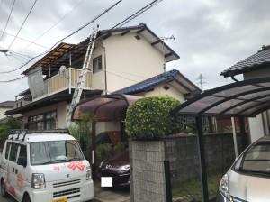 福岡市南区和田K様邸【外壁:モルタル  付帯塗装】:施工前