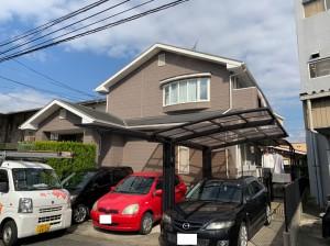 福岡市南区N様邸【外壁:窯業系サイディング板 屋根:スレート瓦 付帯塗装】:施工前