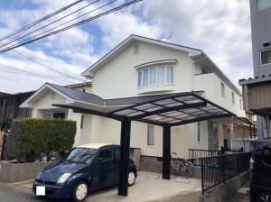 福岡市南区N様邸【外壁:窯業系サイディング板 屋根:スレート瓦 付帯塗装】:施工後