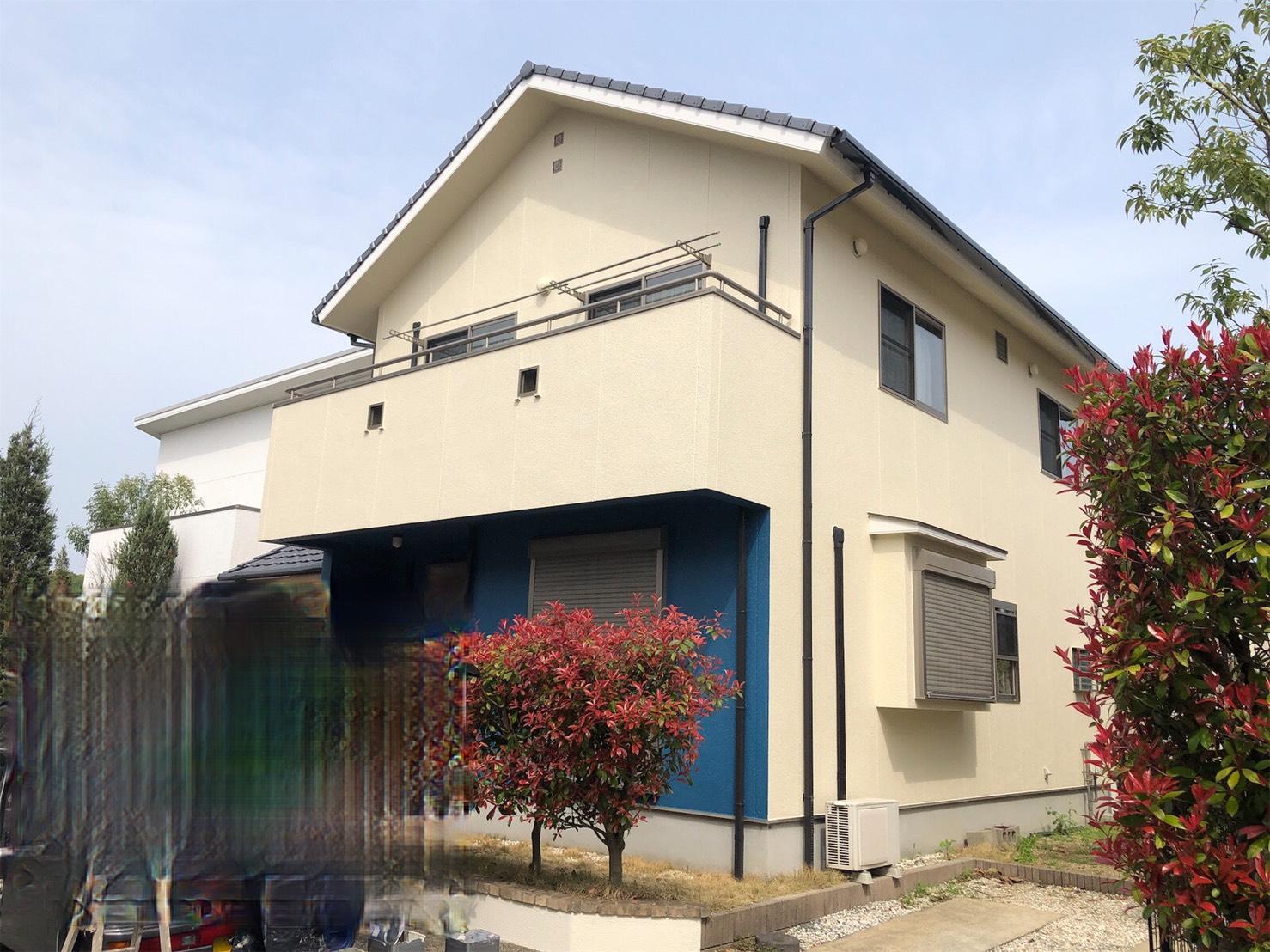 福岡市西区西の丘M様邸【外壁:モルタル 塀・付帯塗装】